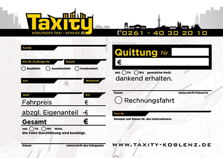 Taxity Quittungen